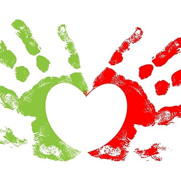 Heart Hand Prints by gopinat
