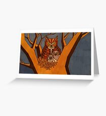 Great horned owl and babies Greeting Card