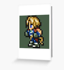Zidane sprite Greeting Card