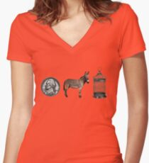 Guess Who... Women's Fitted V-Neck T-Shirt