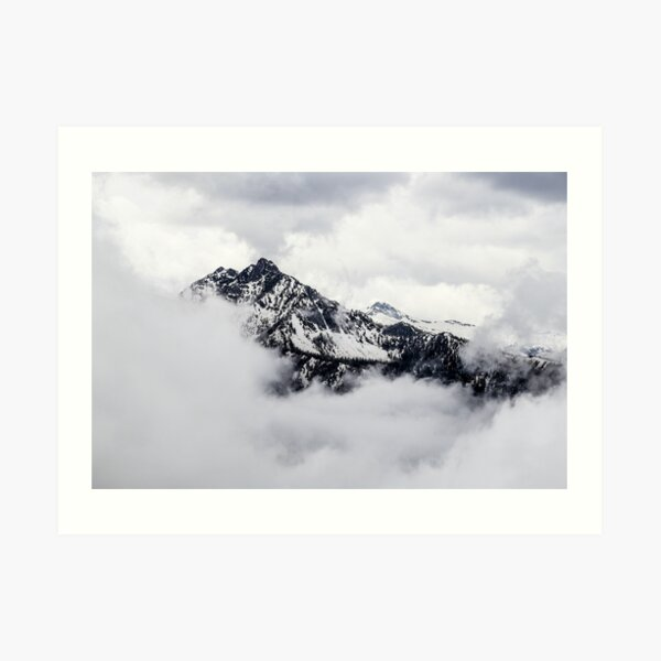 Hide & Seek Mountainscape Art Print