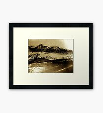 desert brush.... Framed Print