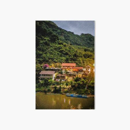 Southeast Asia River Evening Art Board Print