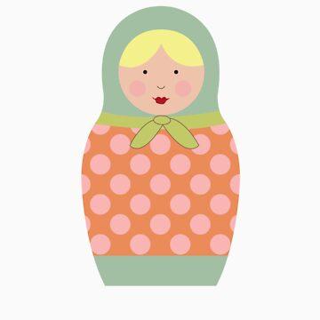 Matryoshka Doll #5 by melissagavin