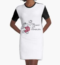 Music Is The Answer Graphic T-Shirt Dress