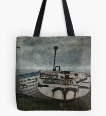 Boat and a bird Tote Bag