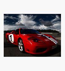 Ferrari 360 Racing Red.  Photographic Print