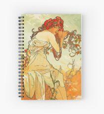 Alphonse Mucha - Summer Spiral Notebook