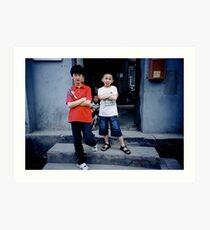 Hutong Kids Art Print