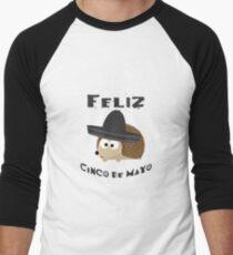 Camiseta ¾ estilo béisbol Hedgehog Feliz Cinco De Mayo