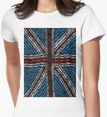The Union Jack of Paper Clips! Womens Fitted T-Shirt
