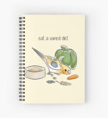 Eat a Varied Diet Spiral Notebook