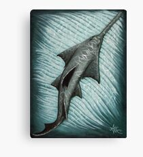 Sawfish ~ acrylic painting by Amber Marine Canvas Print
