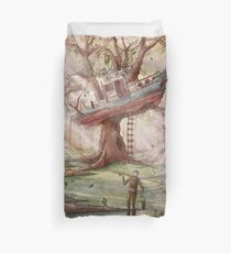 Fisherman of the Forest Duvet Cover