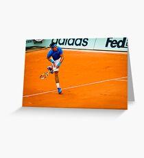 Rafael Nadal @ Roland Garros Greeting Card
