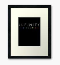Infinity - White Dirty Framed Print
