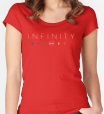 Infinity - White Dirty Women's Fitted Scoop T-Shirt