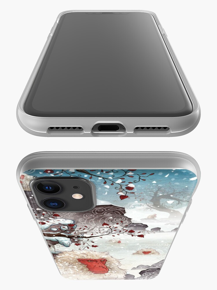 Alternate view of Soaking Japanese Snow Monkeys iPhone Case & Cover