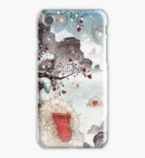 Soaking Japanese Snow Monkeys iPhone Case/Skin