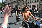 Paris Bicycle Parade Smile by Imagery