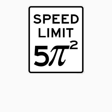 Speed Limit  5 Pi Squared by ChipMcFarlane
