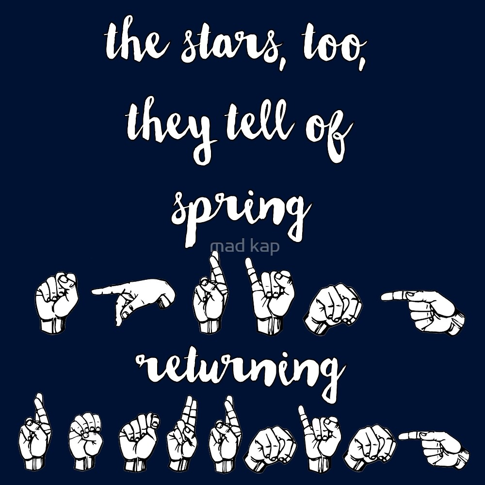 The stars, too, they tell of spring returning - Spring Awakening by mad kap