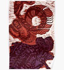 Diptych of Bones - Woodcut Poster