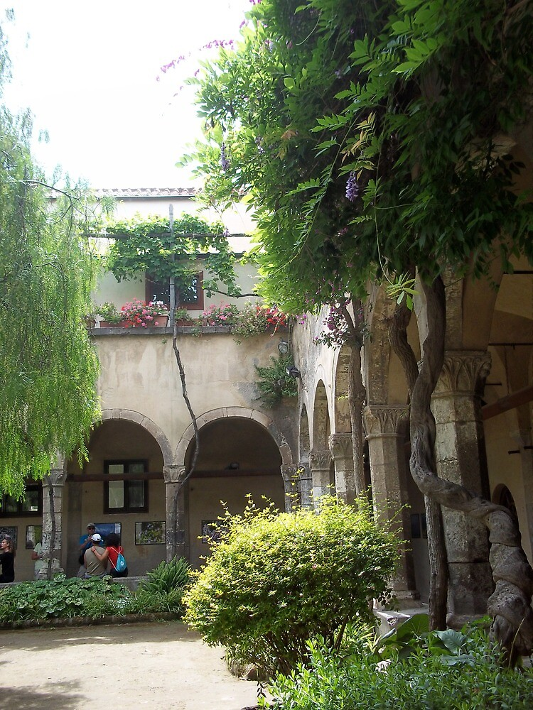 Kloisters Courtyard, Sorrento, Italy by Sarah Louise English
