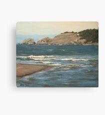 River Meets the Sea Canvas Print