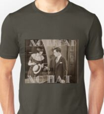 """No Bread No Hat"" Silent Film-era Buster Keaton T-Shirt"