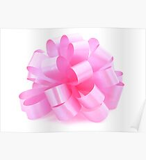 single pink ribbon gift  Poster