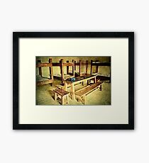 Back to the Barracks Framed Print