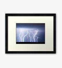 Electric Lightning Sky Framed Print