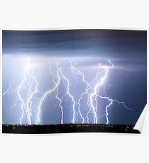 Electric Lightning Sky Poster