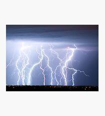 Electric Lightning Sky Photographic Print