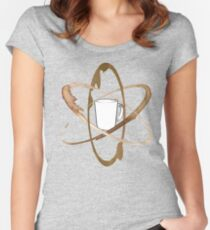 Coffee Mug Atom Women's Fitted Scoop T-Shirt