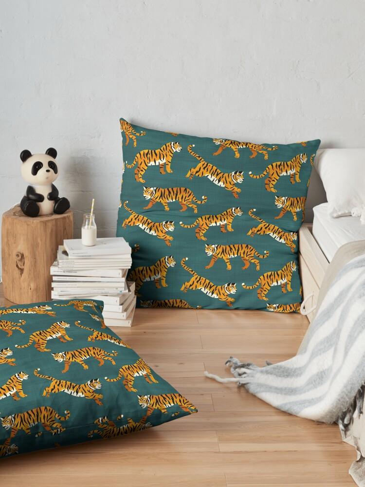 Alternate view of Bengal Tigers - Navy  Floor Pillow