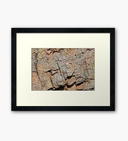Weathered Rock Framed Print
