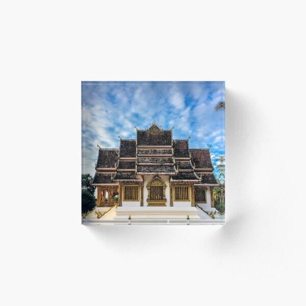 Royal Buddhist Temple Acrylic Block