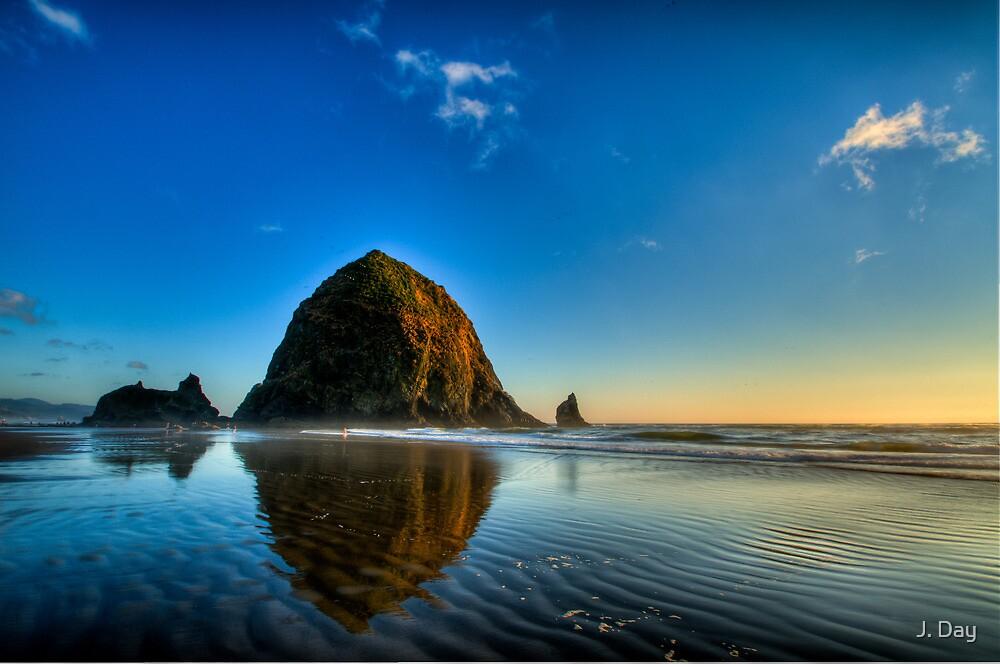 Haystack Rock by J. Day