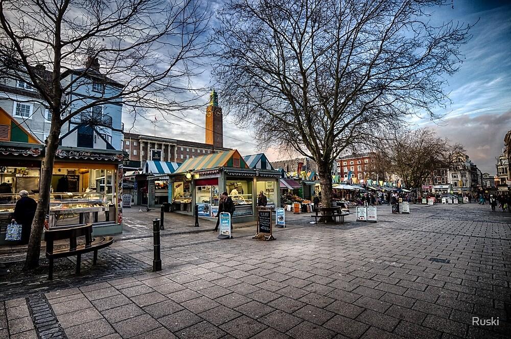 Gentleman's Walk, Norwich by Ruski