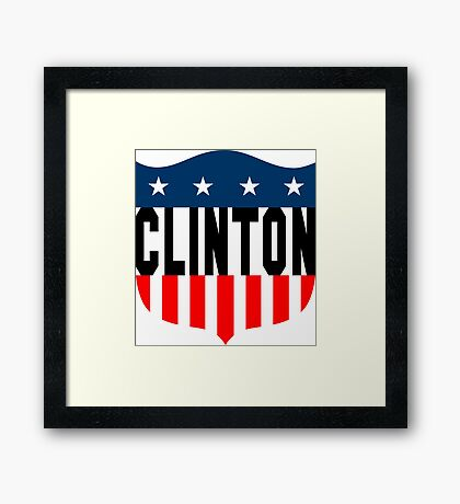 clinton : stars and stripes Framed Print