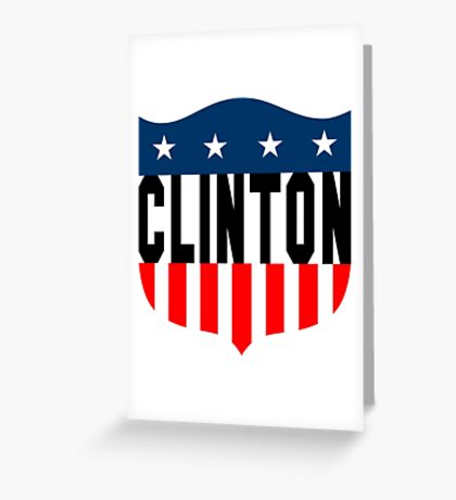 clinton : stars and stripes Greeting Card