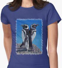 Cute Penguins T-Shirt Womens Fitted T-Shirt