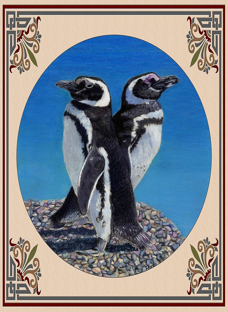 Cute Penguin Greeting Card - Any Occasion by Patricia Barmatz