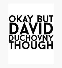 David Duchovny Photographic Print