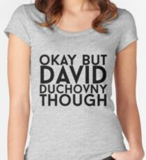 David Duchovny Women's Fitted Scoop T-Shirt