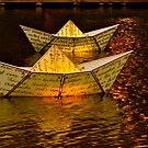 Paper Boat's aglow by Ali Brown