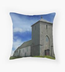 Viking Church St Olafs Norway Throw Pillow