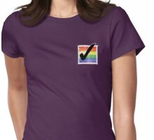 Gay? Tick! (For darker colours) Womens Fitted T-Shirt